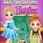Baby Elsa And Anna Playtime