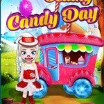 Baby Elsa Selling Candy Day