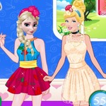 Elsa Vs Cinderella Fashion Contest